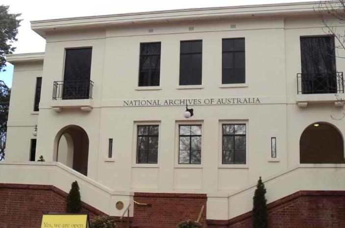 National Archives Of Australia Parkes Act